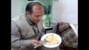 غذا خوردن با کفگیر