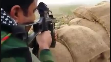 انفجار انتحاری داعشی به دست تک تیرانداز پیمشرگه