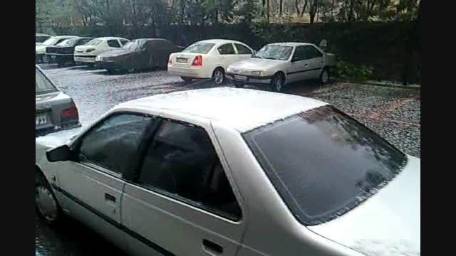 بارش 27 شهریور 94 در تهران