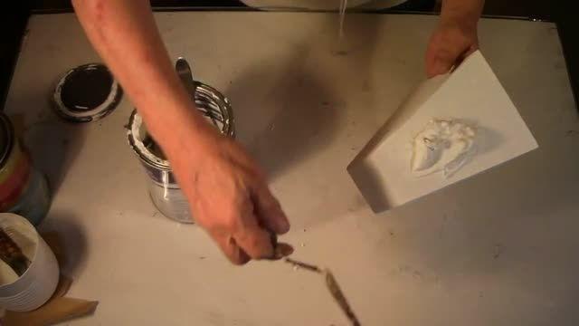 آموزش ساختن گلدان گچی