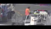 ریختن چمدان مسافران درکامیون زباله
