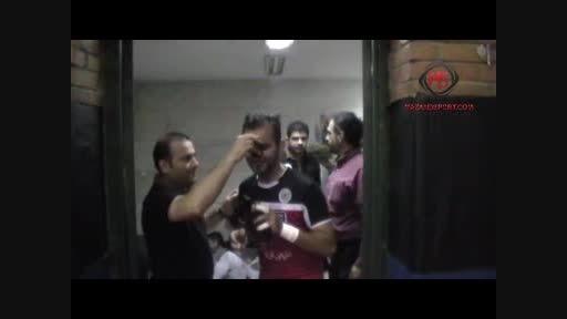 حاشیه دیدار تیمهای شهروند ساری و میثاق تهران