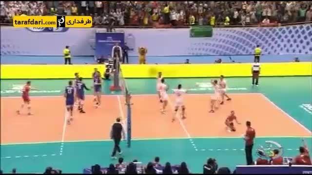 گزارش-پیروزی تیم ملی والیبال برابر روسیه در دیدار نخست