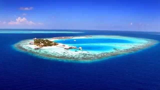زیباترین جزیره دنیا در مالدیو اقیانوس هند