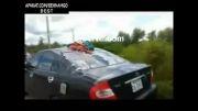 نصف شدن موتورسوار در تصادف +18