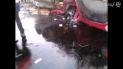 محور دماوند-فیروزکوه چپ کردن کامیون ماک