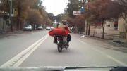 پیرمرد موتورسوار