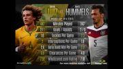 مقایسه آمار و ارقام بازیکنان آلمان و برزیل