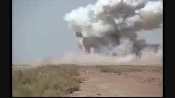 موشک نقطه زن سپاه پاسداران+لحظه اصابت به نقطه خاص