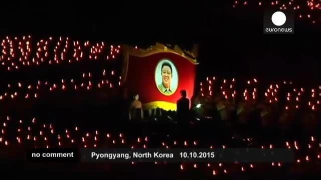 رژه نظامی شبانه در پیونگ یانگ