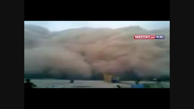 لحظه ورود گرد و غبار به اهواز