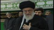لحظه ورود رهبرانقلاب به حسینه ی امام خمینی ره