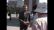دکتر علی باقری معاون دبیر شورای عالی امنیت ملی سوار بر تاکسی دانشگاه تهران را ترک کرد