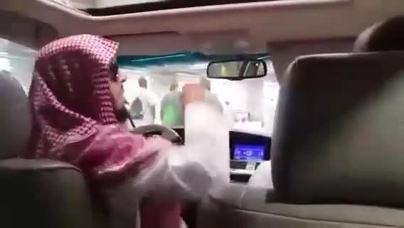 رمی جمرات شاهزاده سعودی.نگاه کنید و قضاوت کنید