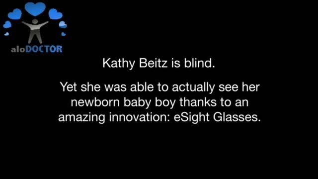 مادر نابینایی كه برای اولین بار فرزندش را می بیند...
