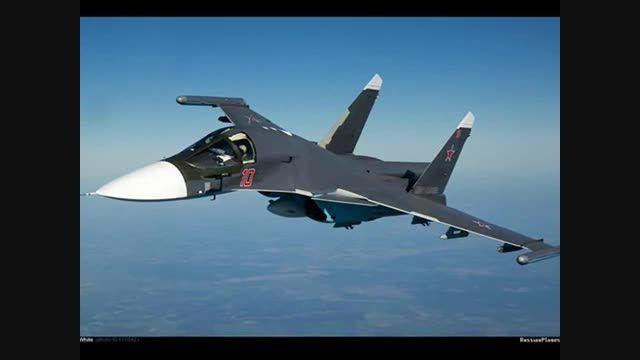 ورود ۶ فروند بمب افکن سوخو34 روسیه به فرودگاه سوریه