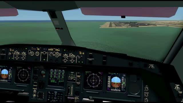 فرود تماشایی ایرباس 600-340 در فرودگاه دوحه شبیه ساز
