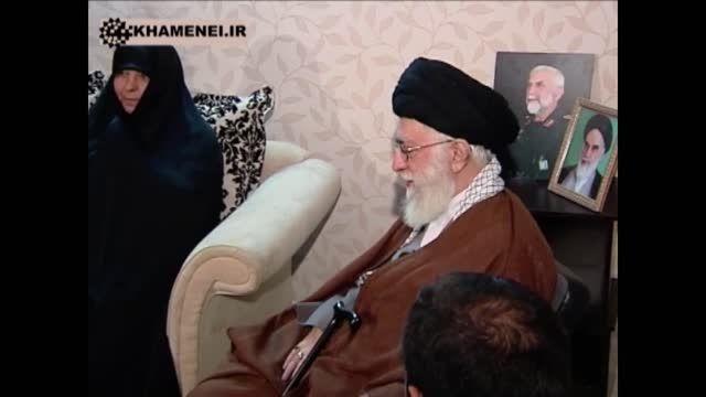 دیدار رهبر معظم انقلاب با خانواده سردار همدانی