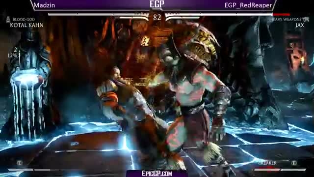 Madzin (Kotal) vs EGP Red Reaper (Jax/Scorpion) - MKX