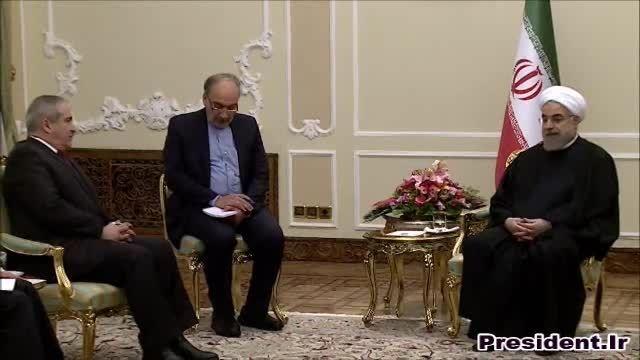 دیدار دکتر روحانی و وزیر خارجه اردن