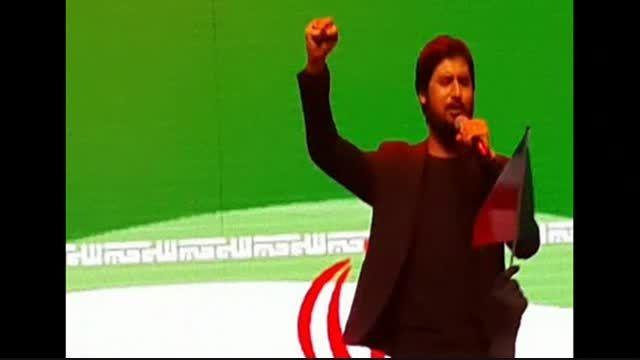 تصاویری از اجرای زنده حامد زمانی در دهه فجر93 تهران