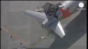 برخورد دو هواپیما مسافربری در فرودگاه ملبورن