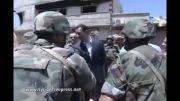 داریا- روز ارتش و حضور بشار اسد در بین ارتشیان سوریه در جبهه