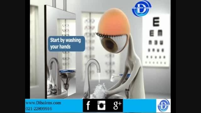 آموزش نحوه صحیح قرار دادن لنز در چشم
