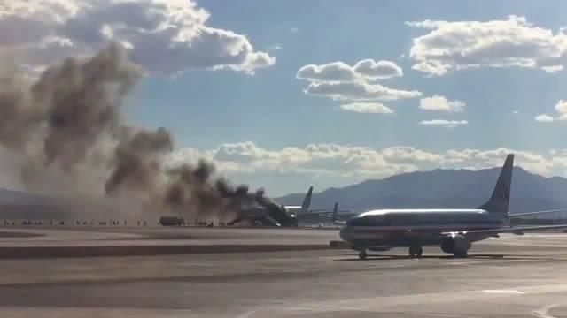 آتش گرفتن هواپیمای بریتیش ایرویز بعد از بلند شدن