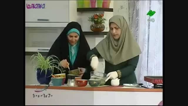 رولت سبزیجات با گوشت آموزش آشپزی+فیلم گلچین صفاسا