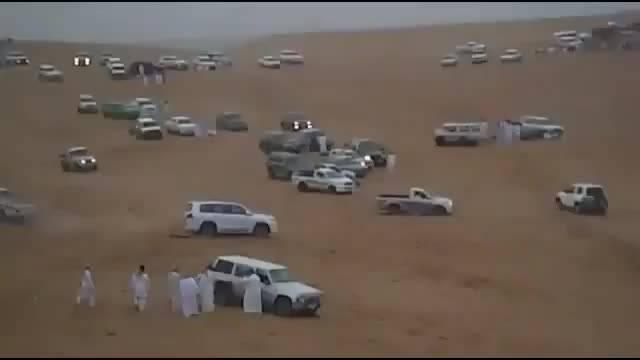واژگونی لکسوس در صحرا!!