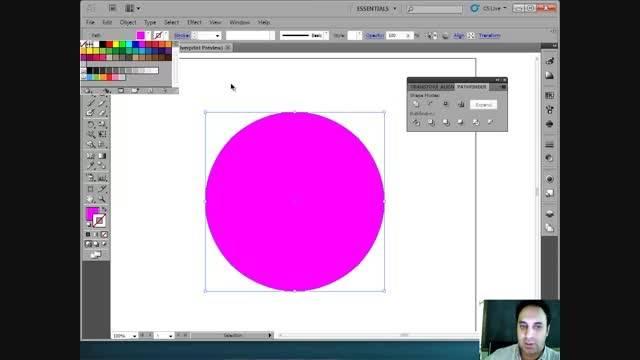 32- آموزش Illustrator - اضافه کردن یکسان پوینت ها