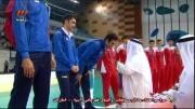 مراسم اهداء مدال مسابقات والیبال قهرمانی آسیا
