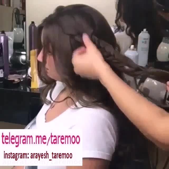 بافت مو زیبا و دخترانه در تار مو