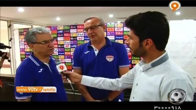 مصاحبه با مربی و بازیکنان فولاد پس از برتری مقابل پدیده