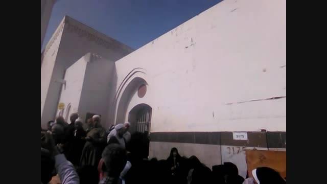 مسجد امام علی  ع در مناخه در مدینه-بازدید خراسانی ها