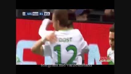 خلاصه دیدار منچستریونایتد-ولفسبورگ لیگ قهرمانان اروپا
