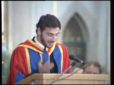 سامی یوسف-  سخنرانی در مراسم اهدا دکترا افتخاری-قسمت 2