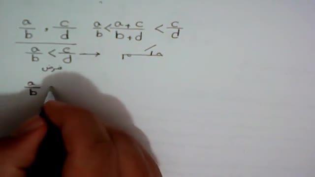 روش پیدا کردن عدد گویا بین دو عدد گویا
