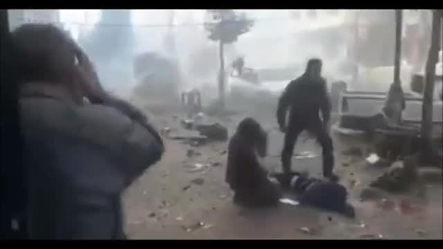 جنایت داعش - پس از انفجار خودروی بمب گذاری شده