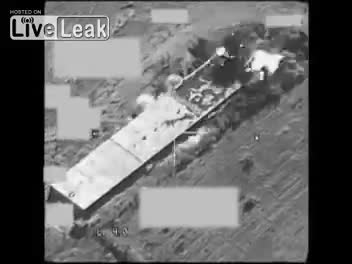 انهدام انبار بزرگ مهمات داعش توسط جنگنده بلژیکی در عراق