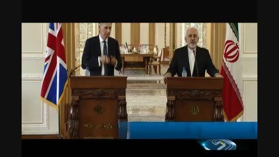 نشست خبری دکتر ظریف و همتای انگلیسی خود