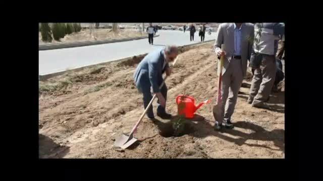 مراسم روز درختکاری در دانشگاه علوم پزشکی اراک اسفند 93