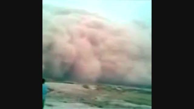 اولین لحظه ورود وحشتناک غبار از عراق به خاک ایران