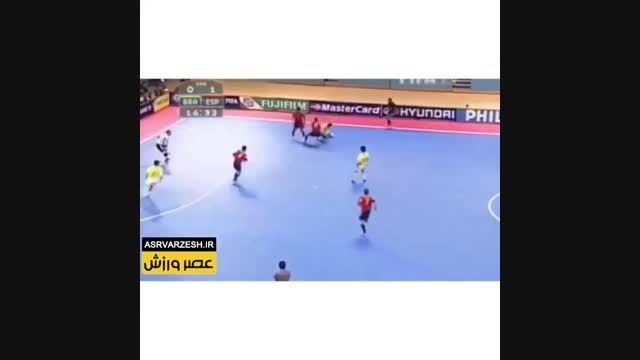 دریبل های پر تعداد در بازی فوتسال