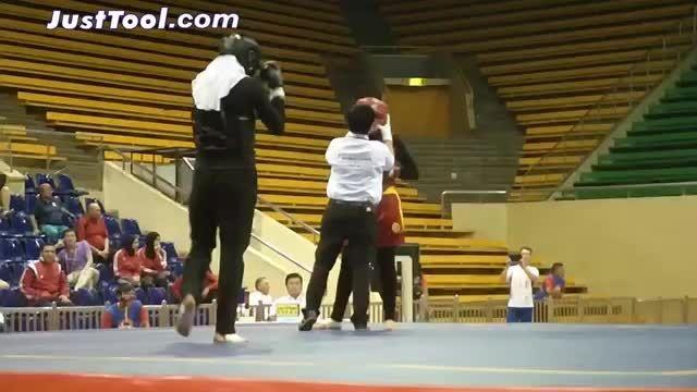 مبارزه مریم هاشمی در مسابقات جهانی