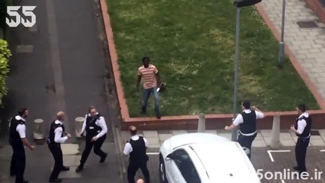 تلاش گروهی 20 مامور پلیس برای دستگیری یک مرد