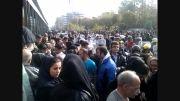 تجمع مردم بعد از فوت پاشایی در تهران روز پنج شنبه