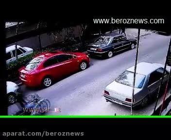 زورگیری بی رحمانه از یک دختر در خیابان پاسداران تهران