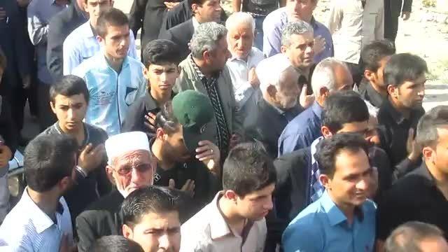 تشییع و خاکسپاری دو شهید گمنام در چرام-3